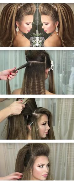 Best Hairstyles for Brides - Arabic High Tail Wedding Hairstyle- Amazing Hair Styles and Looks for Half Up Medium Styles, Updo With Long Hair, Short Curls, Vintage Looks with Veil, Headpieces, or With Tiara - Wedding Looks for Girls With Round Faces - Awesome Simple Bridal Style With Headband or Elegant Braided Up Dos - thegoddess.com/hairstyles-for-brides
