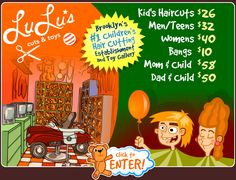 Lulu's Cuts & Toys -- Haircuts and Toys for Kids.  Customer service has gotten better over the years.  Easy to grab a gift and go.