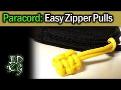 Simple Paracord: Quick & Easy Zipper Pulls - YouTube