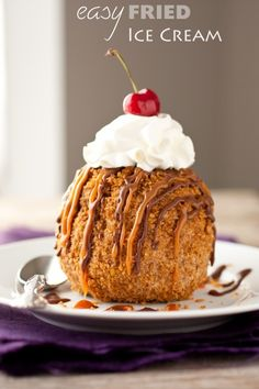 easy fried ice cream
