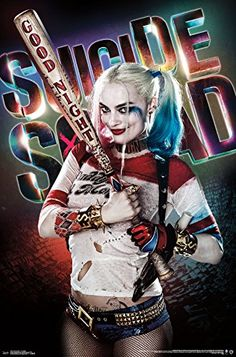 Suicide Squad - Good Night Poster 22 x 34in - http://centophobe.com/suicide-squad-good-night-poster-22-x-34in/ -