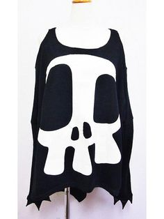 Knit BIG Punk Long Sleeve T-Shirt w/ Devil Nails Black. See more at: http://www.cdjapan.co.jp/apparel/superlovers.html #harajuku #SUPER LOVERS