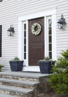 Decorative Columns And Header Work Slate Steps And Stone Risers Front Stoops Pinterest