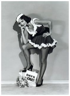 Gorgeous Actress Julie Adams counting down the days till Christmas...and the days until she can stop posing like this!