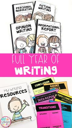 This writing workshop resource will make teaching writing so much easier! This is a full year resour Kindergarten Writing, Teaching Writing, Writing Activities, Literacy, Kindergarten Design, Dr. Seuss, Writing Lessons, Writing Skills, Writing Centers