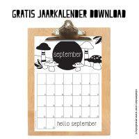 Calander, Decorative Bells, Free Printables, Crafts For Kids, Bullet Journal, Prints, How To Make, September, Diy