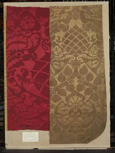 The type of silk damask used in 16th century Germany. Woven silk from 1525-1549, Made in Italy.