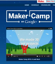 Maker Camp! Great resource and program #MakerMovement #NewCreatives
