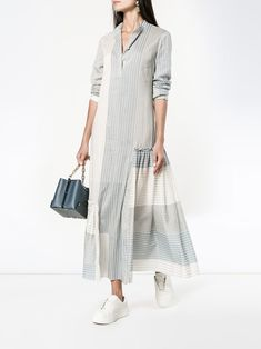 Casual Day Dresses, Trendy Dresses, Simple Dresses, Fashion Dresses, Sewing Clothes Women, Dress Clothes For Women, Summer Dresses For Women, Elisa Cavaletti, White Long Sleeve Dress