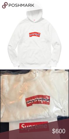 abf231c28e90 Supreme X Comme does Garçons hoodie Supreme x Comme des Garçons Box Logo  Hooded Sweatshirt SS17 White, sizes L and XL Includes receipt, bag, ...