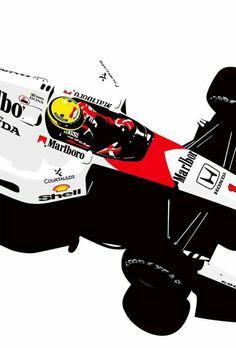 Ayrton Senna by unknown Photographer