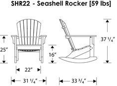 POLYWOOD™ Seashell Rocker