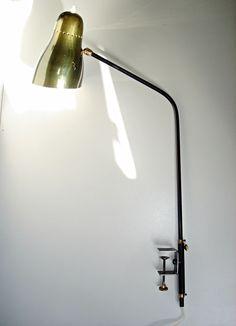 Alte tischlampe Lampe clip agrafe OSTUNI Table Lamp Biny Mouille Guariche 1950
