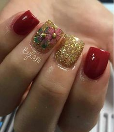 Cute Toe Nails, 3d Nails, Love Nails, Pretty Nails, Pretty Nail Designs, Short Nail Designs, Acrylic Nail Designs, Acrylic Nails, Precious Nails