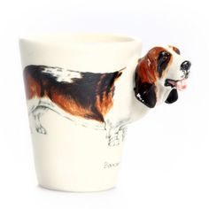 Basset Hound Mug Tricolor, $29, now featured on Fab.