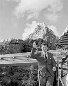 In this handout image provided by Disney, Senator Edward M. Kennedy visits the Matterhorn at Disneyland in November, 1960 in Anaheim, California. Get premium, high resolution news photos at Getty Images Disneyland History, Disneyland Photos, Vintage Disneyland, Disney Princess Facts, Disney Fun Facts, Disneyland California Adventure, Disneyland Resort, Disney Magic, Walt Disney