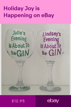 5138b607a21 Fun wine glass, personalised wine glass for mum, personalised gin ...