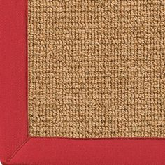 Wool Sisal w/ Cotton Twill Binding Rug: Cork Sisal w/ Red or Khaki  6 or 8 Sq Product SKU: XR9005 0203CC