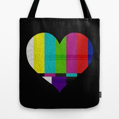 "Tote Bag / 16"" x 16"" AnishaCreations (anishacreations) Heart TV by AnishaCreations $22.00"