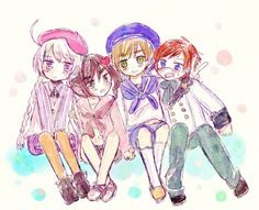 Kugelmugel, Wy, Sealand, and Ladonia Hetalia Funny, Hetalia Fanart, Latin Hetalia, Axis Powers, Cool Eyes, Me Me Me Anime, Manhwa, In This World, Fandoms