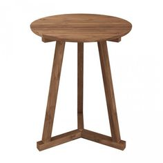 Ethnicraft Teak Tripod Side Table by Ethnicraft   Clickon Furniture