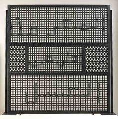 'Knowledge is Sweeter Than Honey'. Mashrabiya (wood screen) sculpture by Susan Hefuna