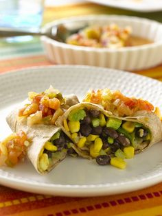 Corn and Black Bean Burritos #MeatlessMonday #vegetarian
