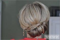 The Sideways French Twist tutorial, shoulder length bridesmaid hair
