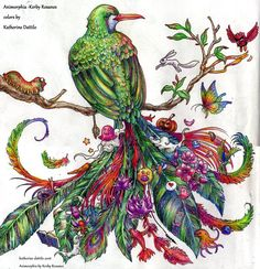 Animorphia Quetzal Bird by KatTheGrrreat