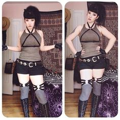 R/p of @loudnight as Lara Croft wearing the Johanna Harness and Alayna Thigh Garters. Both available at www.agashishop.com.  Use the code 'BDAY2015' for 20% Off.  Sale ends tonght at Midnight EST!!  #agashibychristinao #lingeriedesign #garters #harness #gothgirls #altgirls #festivalfashion #cosplay #agashijohanna