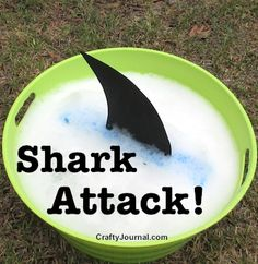 Kids will love Shark Attack! Summer DIY by Crafty Journal
