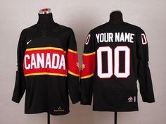 Team Canada 2014 Sochi Winter Olympic Custom Black Jersey