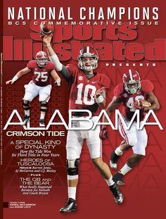 Alabama CRIMSON Sports Illustrated National Champions x Fridge Magnet Sec Football, Crimson Tide Football, Best Football Team, Football Baby, Alabama Football, Alabama Crimson Tide, College Football, Fanatic Football, Alabama Athletics