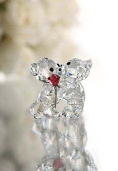 Swarovski Kris Bear, A Rose for You