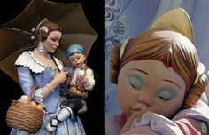 Las Fallas ~ Only a couple of the beautifully crafted figures will be spared the flames: the ninots indultados (1 from the adult & 1 from the children's fallas), which will go on display at the city's 'Fallero Museum' / Turismo de Valencia, Spain