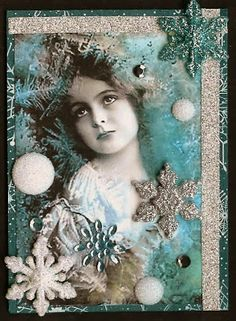 Nostalgic Collage': ATC - Sparkle
