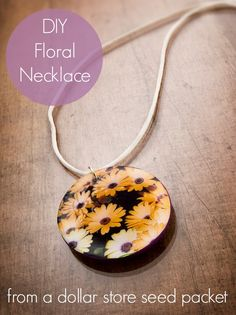 DIY seed packet necklace. - Mod Podge Rocks