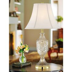 Cut Glass Urn With Brass Accents Table Lamp Large Table Lamps, Table Lamp Base, A Table, Bedroom End Tables, Traditional Table Lamps, Lamp Makeover, Living Room Remodel, Vintage Table, Vintage Lamps