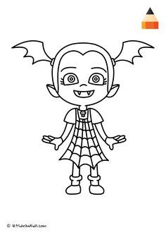 Coloring Page Vampirina With Images Halloween Coloring Pages