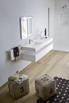 KORAKRIL™ BATHROOM CABINET WITH DRAWERS UNICO COLLECTION BY REXA DESIGN | DESIGN IMAGO DESIGN