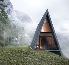living on the edge, this triangular home is embedded from the steep cliff edge visualised by matthias arndt / lichtecht. more #architecture on #designboom! #architecturerender
