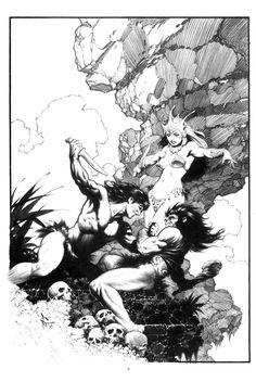 mark schultz artist - Tarzan and La
