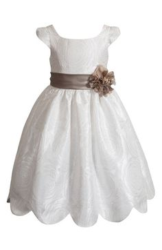 Kleinfeld Pink 'Collette' Cap Sleeve Dress (Toddler Girls & Little Girls) available at #Nordstrom