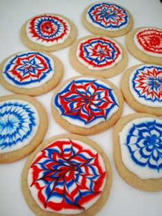 cool 4th of July cookies!