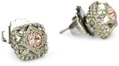 "Sorrelli ""French Blush"" Vintage-Style Crystal Stud Earrings"