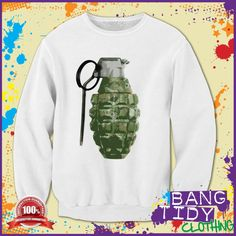 Skull Grenade Sweatshirt Our Price: Graphic Sweatshirt, Urban, Retro, Sweatshirts, Sweaters, Clothes, Graffiti, Sticker, Skull