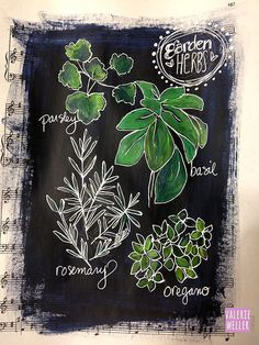 journal page, chalkboard art style...Valerie Weller