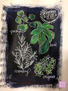 Wonderful way to express your veg - journal page, chalkboard art style. Chalk Typography, Chalkboard Lettering, Chalkboard Designs, Chalkboard Paint, Chalk Drawings, Chalkboard Drawings, Blackboard Art, Art Journal Pages, Art Journals