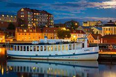 "Vintage ferry ""Axel"" in Karlskrona, Sweden"