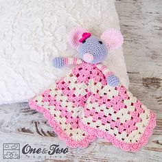 Ravelry: Emily the Mouse Lovey Security Blanket pattern by Carolina Guzman